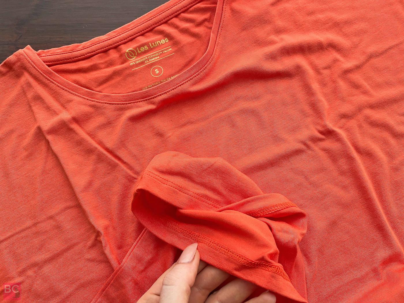 The Mia Shirt Les Lunes Erfahrungen vorne Details Nähte Naht Verarbeitung