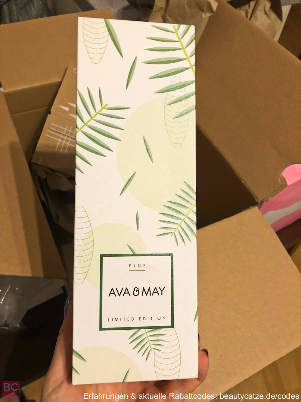 VERPACKUNG VERSAND DUFTSTÄBCHEN Ava and May Erfahrungen 200ml 100ml Vergleich Ava & May