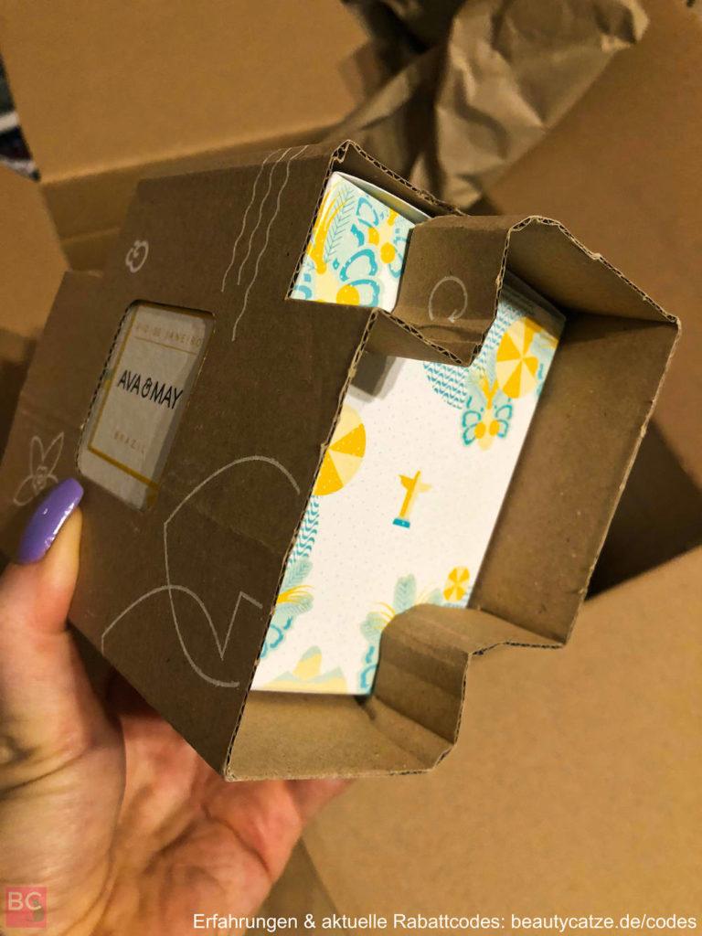 Verpackung Versand DUFTKERZEN Ava & May Erfahrungen 180g Ava and May