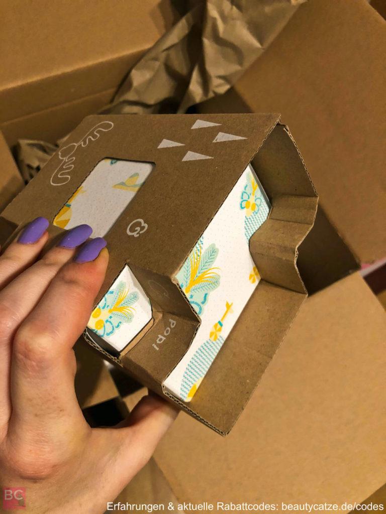 Verpackung Versand DUFTKERZEN Ava and May Erfahrungen 180g Ava & May