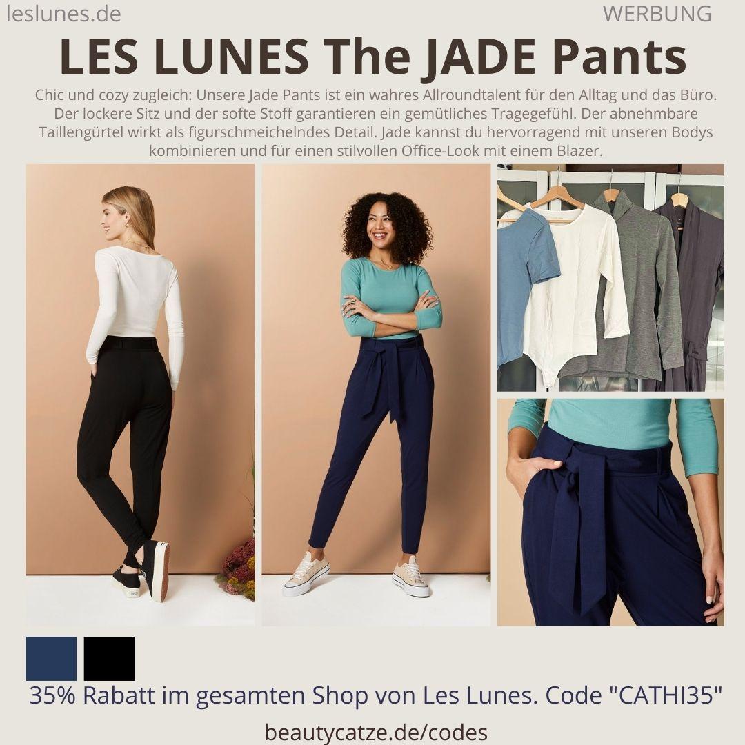 the JADE PANTS Details Farben Passform LES LUNES Erfahrungen