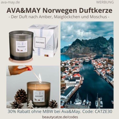 AVA and May Norwegen Duftkerze 500g Erfahrungen Haltbarkeit