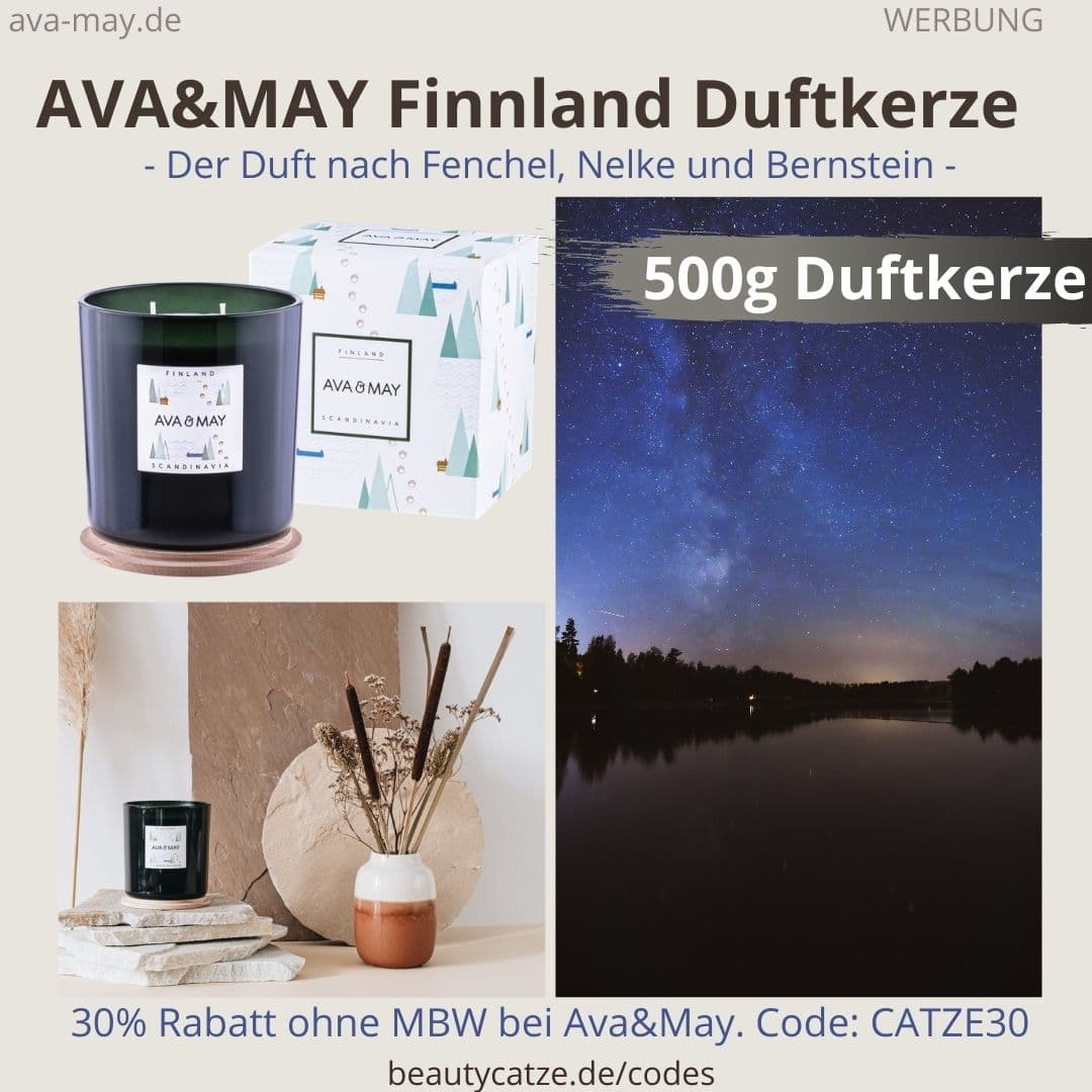 AVA & MAY Erfahrungen Finnland Duftkerze 500g