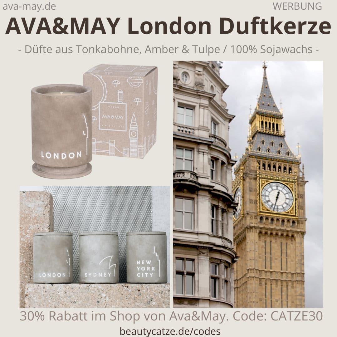 AVA and May LONDON Betonkerze Duftkerze Erfahrung