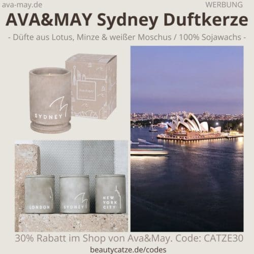 AVA and May SYDNEY Betonkerze Duftkerze Erfahrung