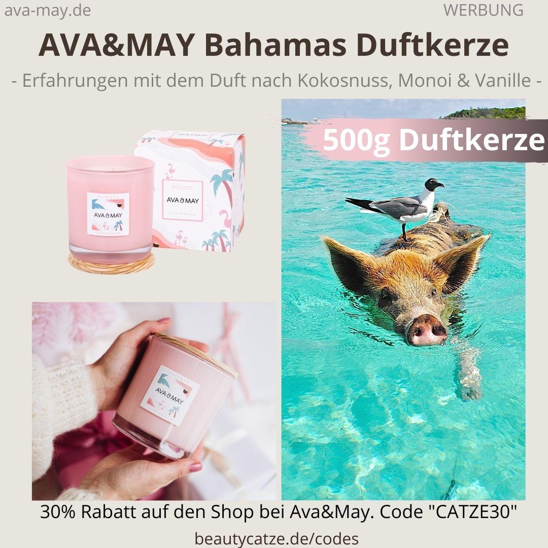 Ava and May BAHAMAS CARIBBEAN Erfahrungen Bewertung große Duftkerze 500g