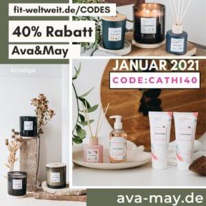Ava and May Januar 2021 40% Rabatt im Shop