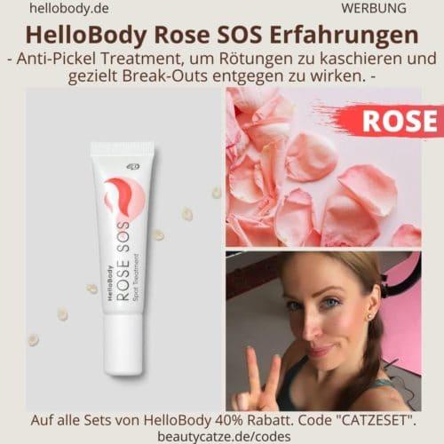 Hello Body Linie ROSE SOS Erfahrungen Anti Pickel Creme Treatment Anwendung Bewertung