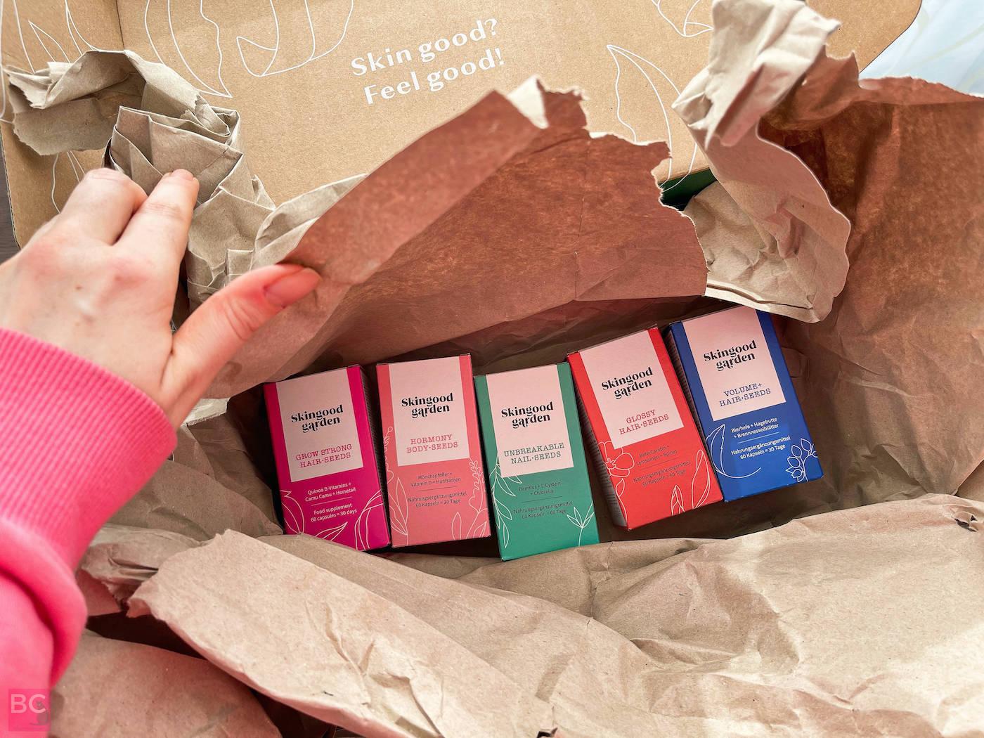 Skin Body Hair Nail Seeds Kapseln Karton Verpackung Skingood Garden Erfahrungen