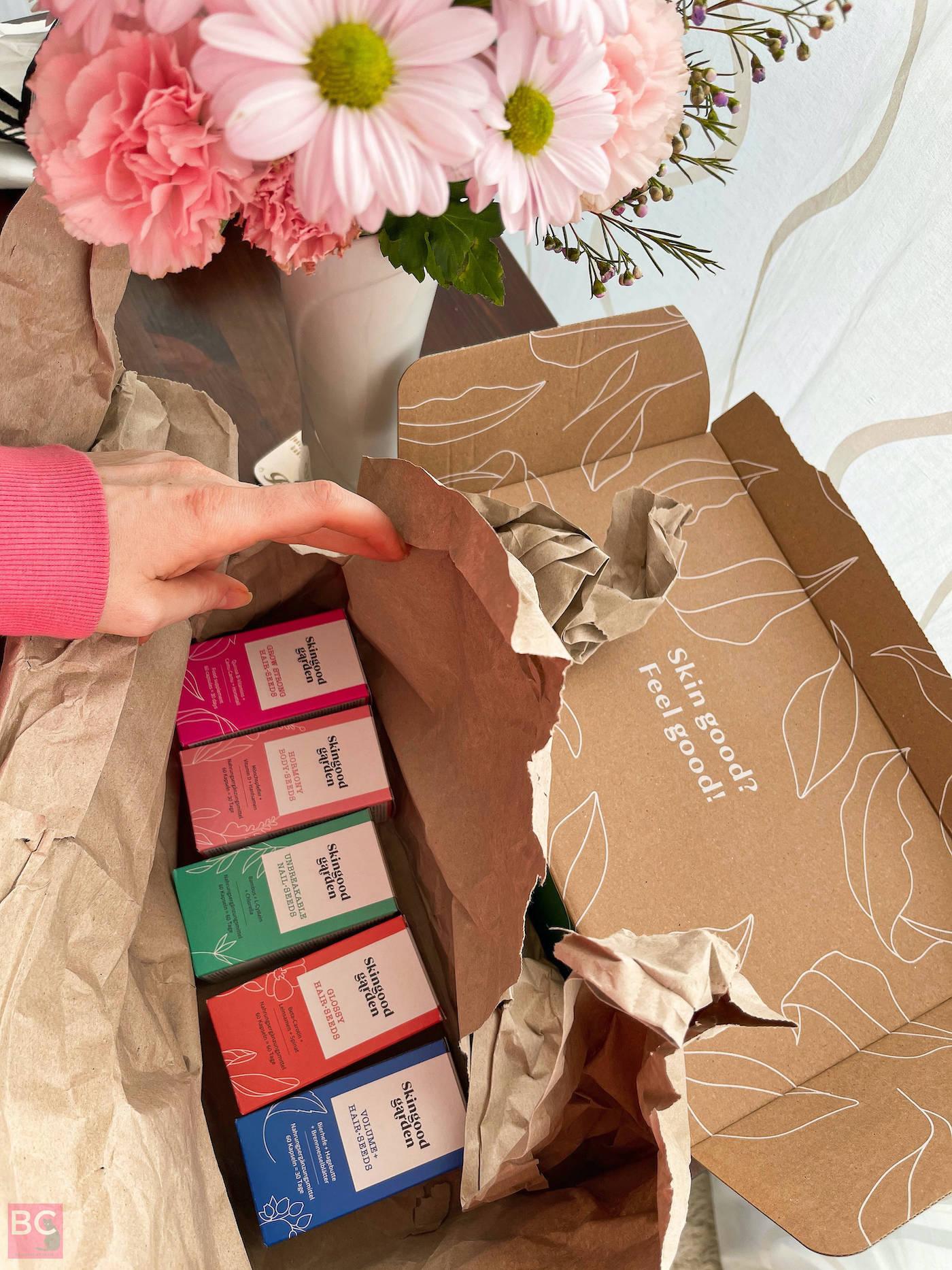 Verpackung und Versand Versandmaterial Karton innen Skingood Garden Erfahrungen