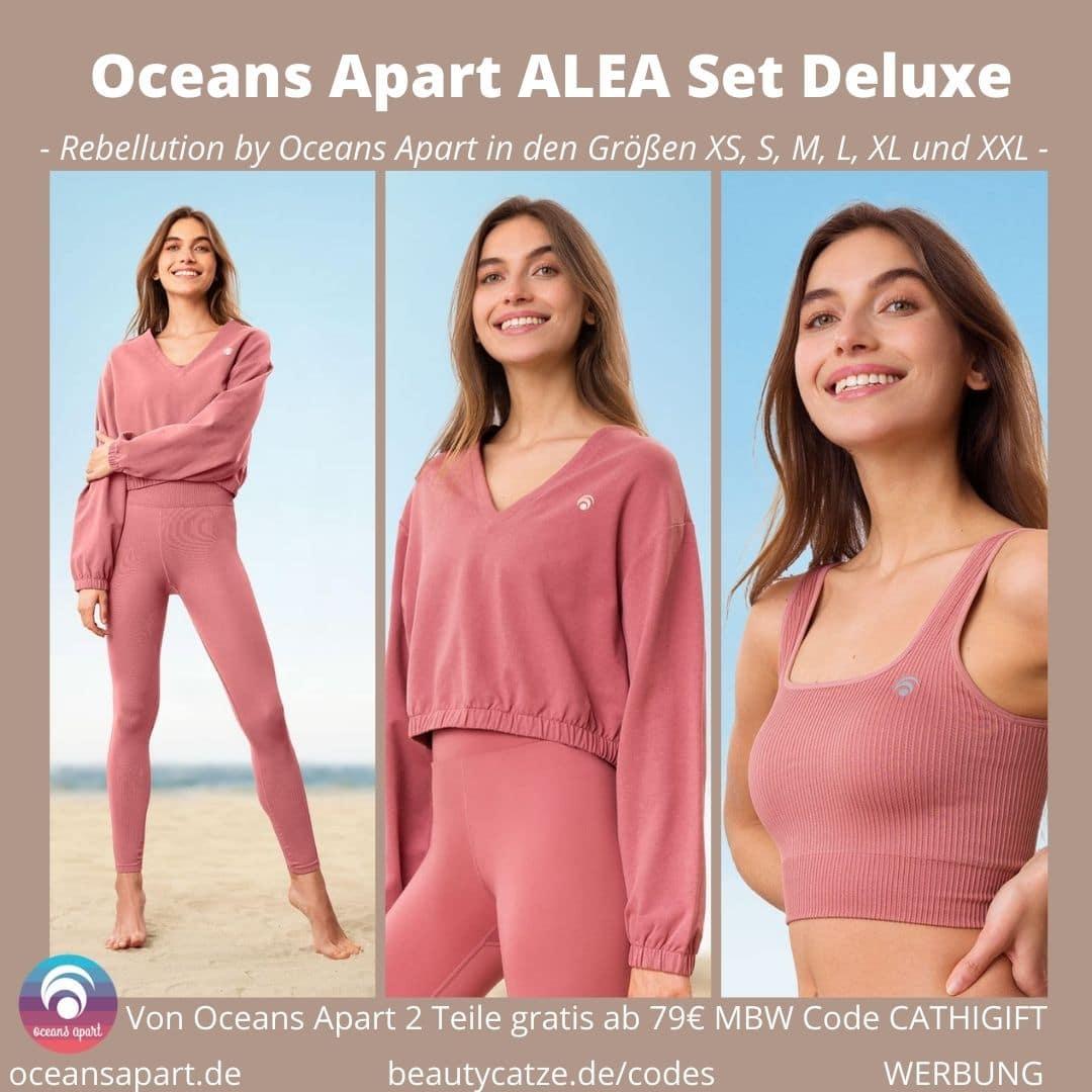 ALEA Set Deluxe Oceans Apart Erfahrungen Leggings Pant Bra Sweater Bewertung Größe Stoff