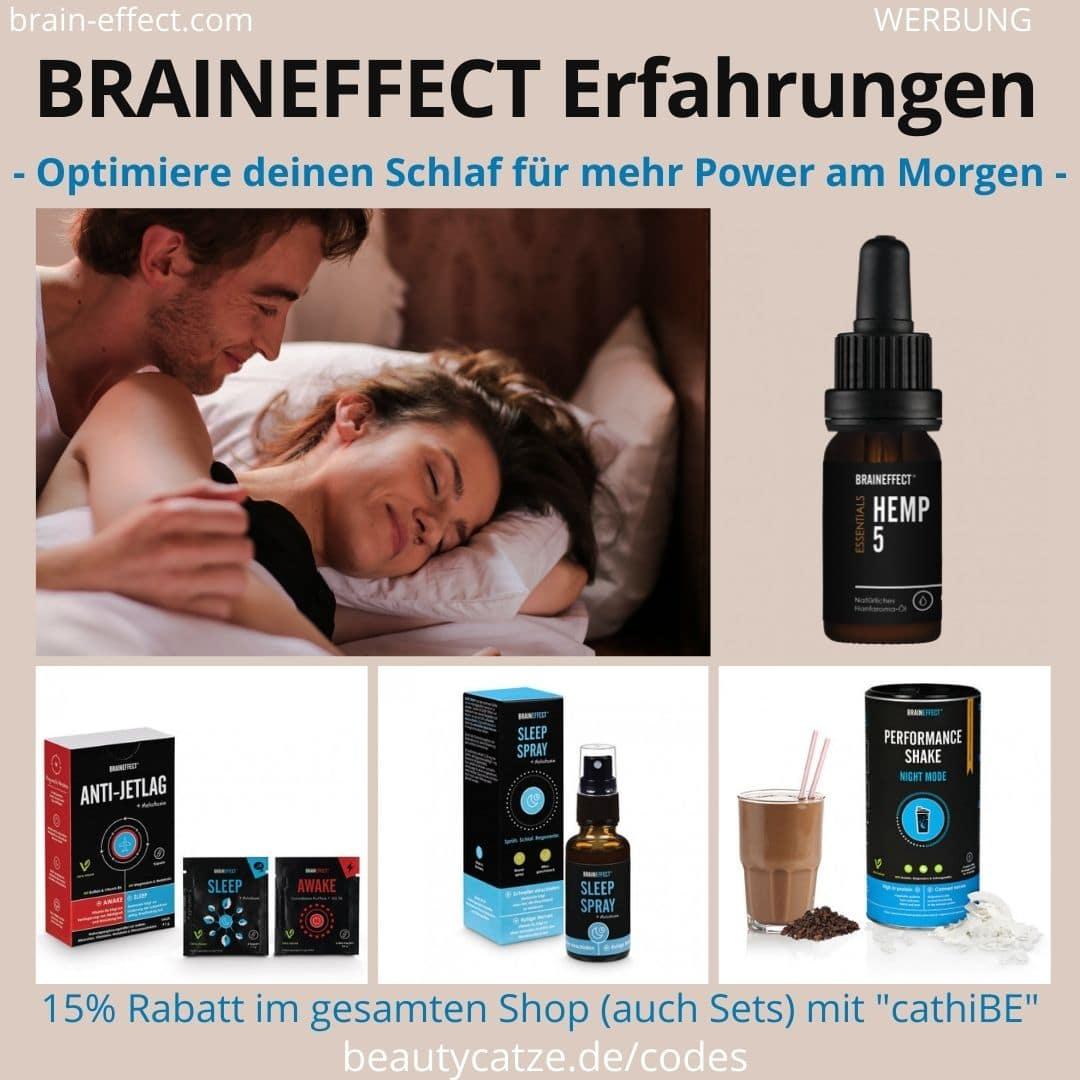Braineffect Erafhrungen schlafen Schlaf Sleep Spray Melatonin Einschlafhilfe Shkae