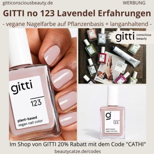 Erfahrungen LAVENDEL GITTI no 123 pflanzenbasiert langanhaltend Nagelfarben Nagellack