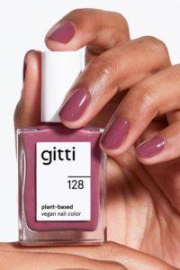 GITTI Erfahrungen SANFTES MAUVE no 128 pflanzenbasiert langanhaltend Nagelfarben Nagellack