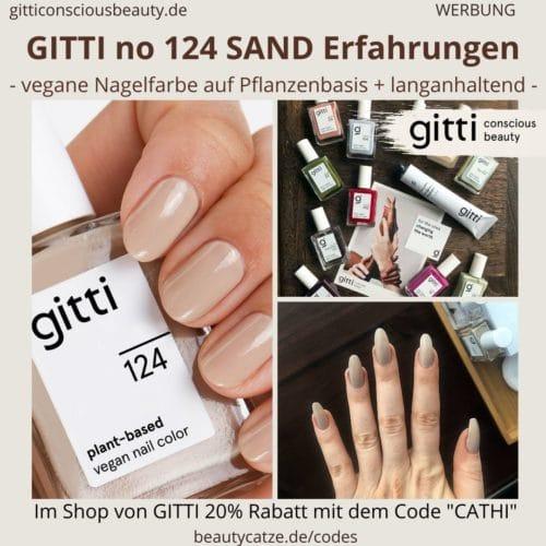 GITTI no 124 pflanzenbasiert langanhaltend Nagelfarben Erfahrungen Sand beige