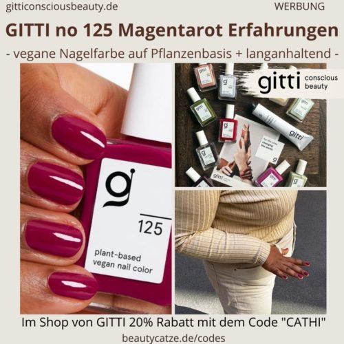 Magentarot GITTI no 125 pflanzenbasiert langanhaltend Nagelfarben Erfahrungen