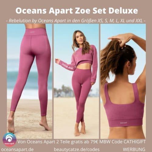Oceans Apart ZOE Set Deluxe Erfahrungen Pant Bra Sweater Bewertung Größe Stoff