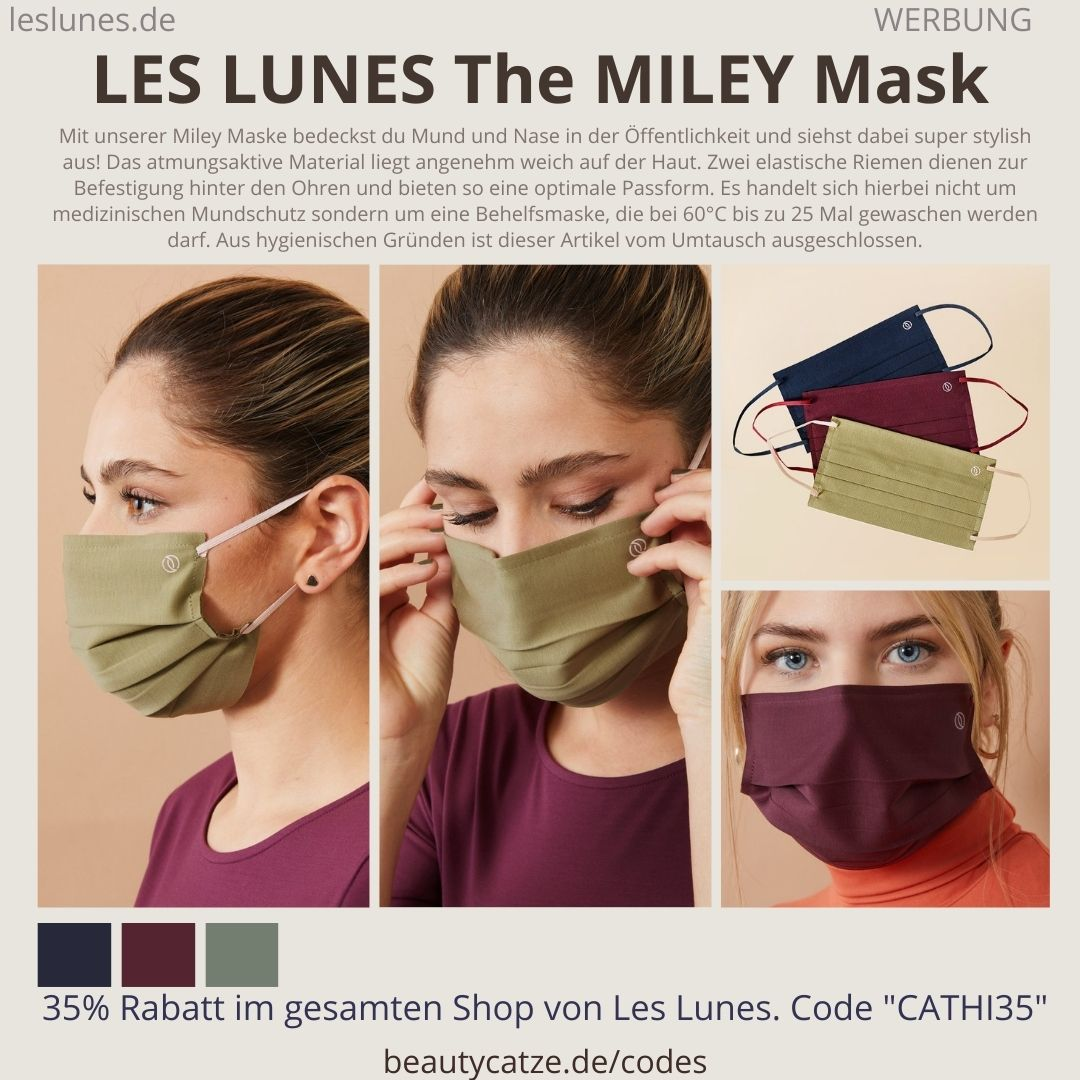 The Miley Mask Passform Komfort Größe LES LUNES Erfahrungen