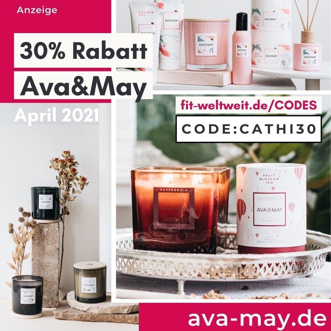 Im April bis zu 50% Rabatt bei Ava & May 30% Gutscheincode