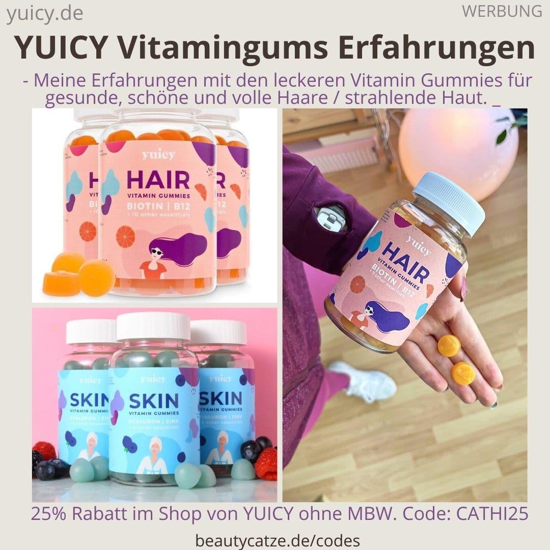 ERFAHRUNGEN YUICY Vitamin Gummies Haare Hair Haut Skin