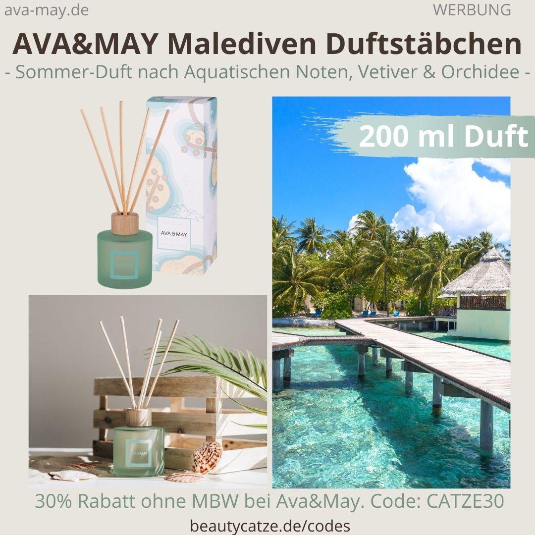 MALEDIVEN AVA&MAY Erfahrungen große Duftstäbchen 200ml Duft Geruch Indian Ocean Maledives