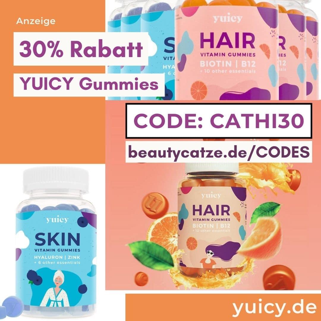 YUICY Gutscheincode 30% Rabatt mit dem Code CATHI30