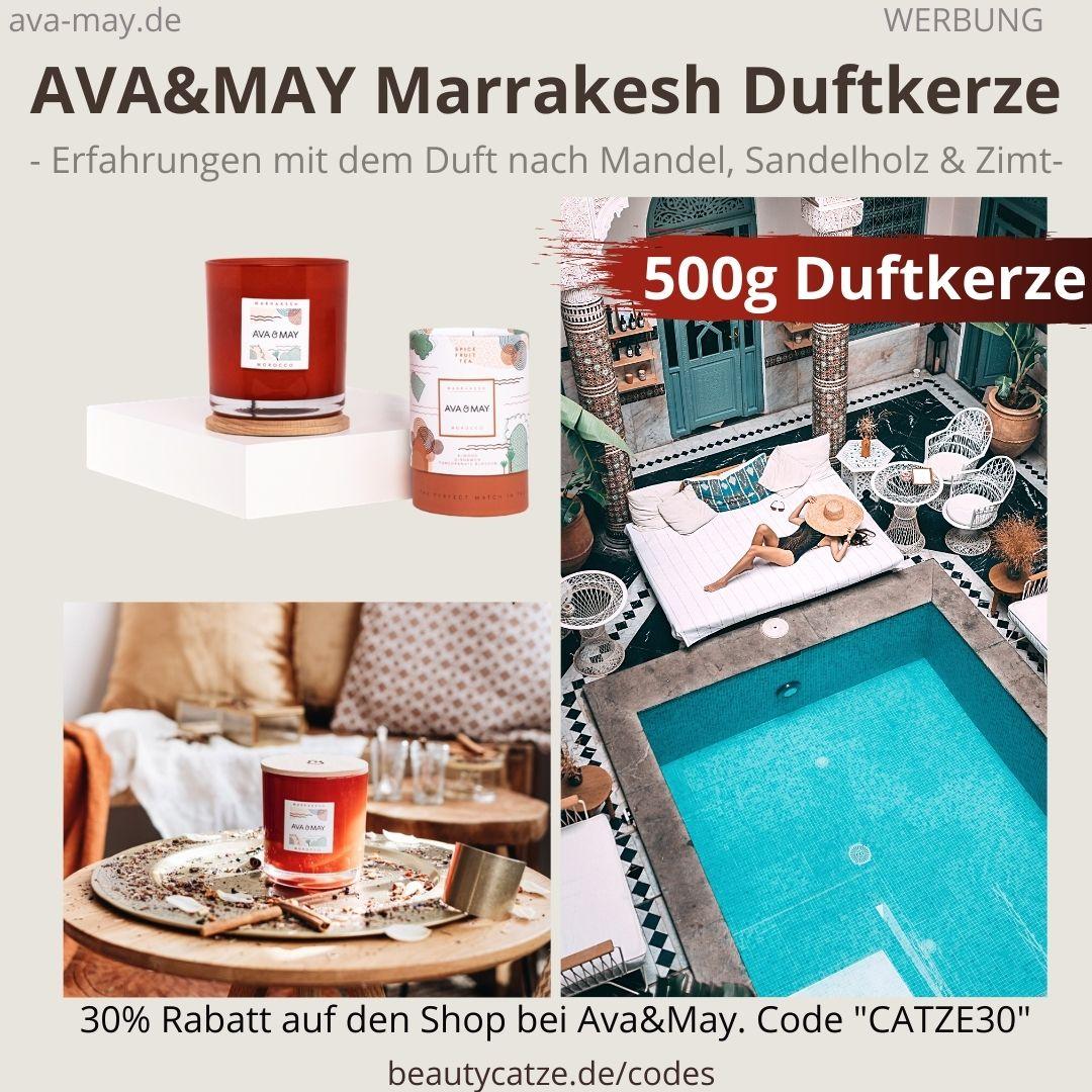Ava and May MARRAKESH MOROCCO Erfahrungen Bewertung große Duftkerze 500g ava&may