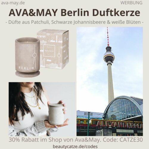 BERLIN BETON DUFTKERZE AVA and MAY Geruch Duft Erfahrung