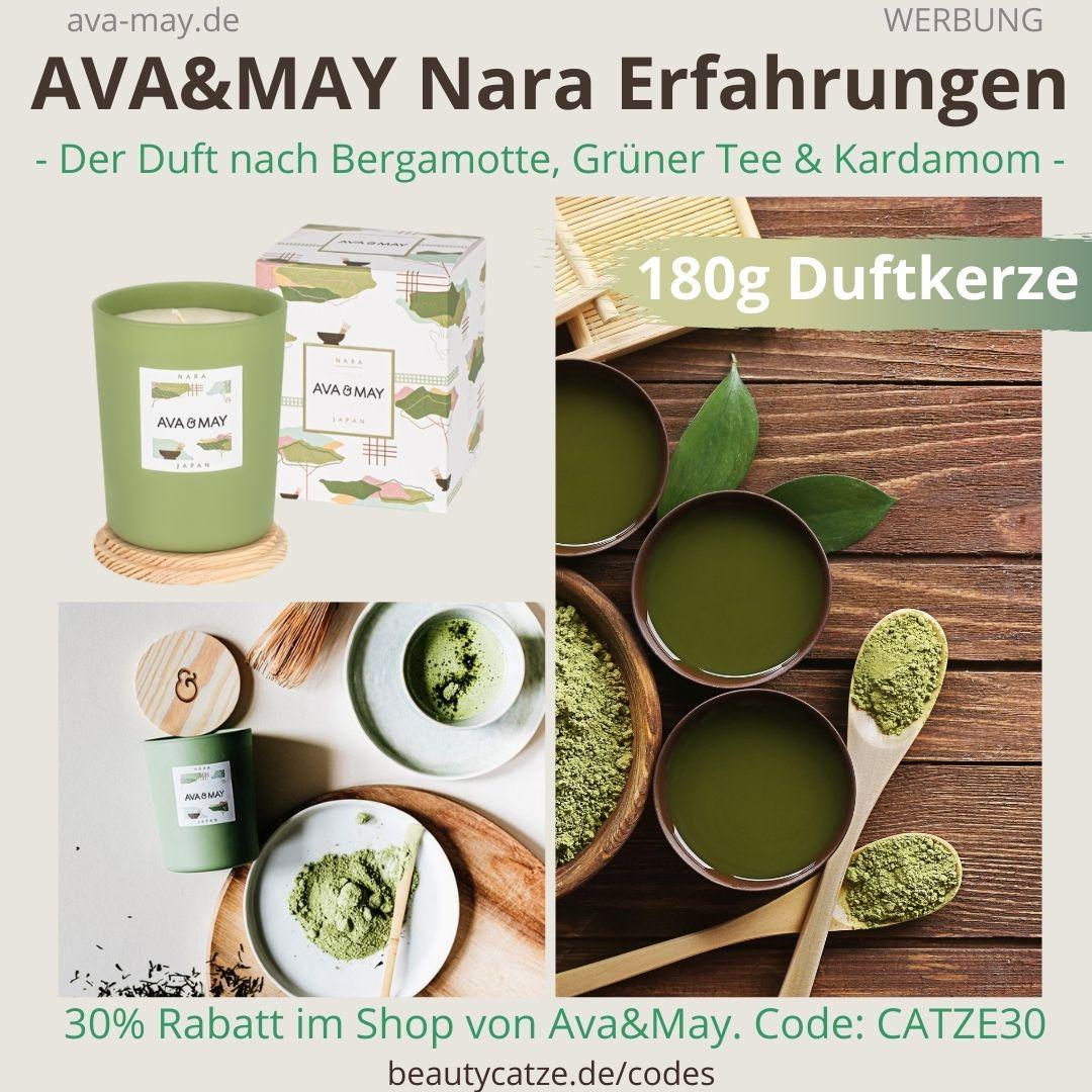 NARA AVA&MAY Erfahrung 180g Duftkerze Geruch Nara Japan