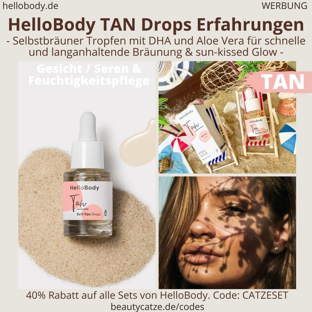 HelloBody Self TAN DROPS Selbstbräuner Tanning Tropfen ERFAHRUNG Test Hello Body