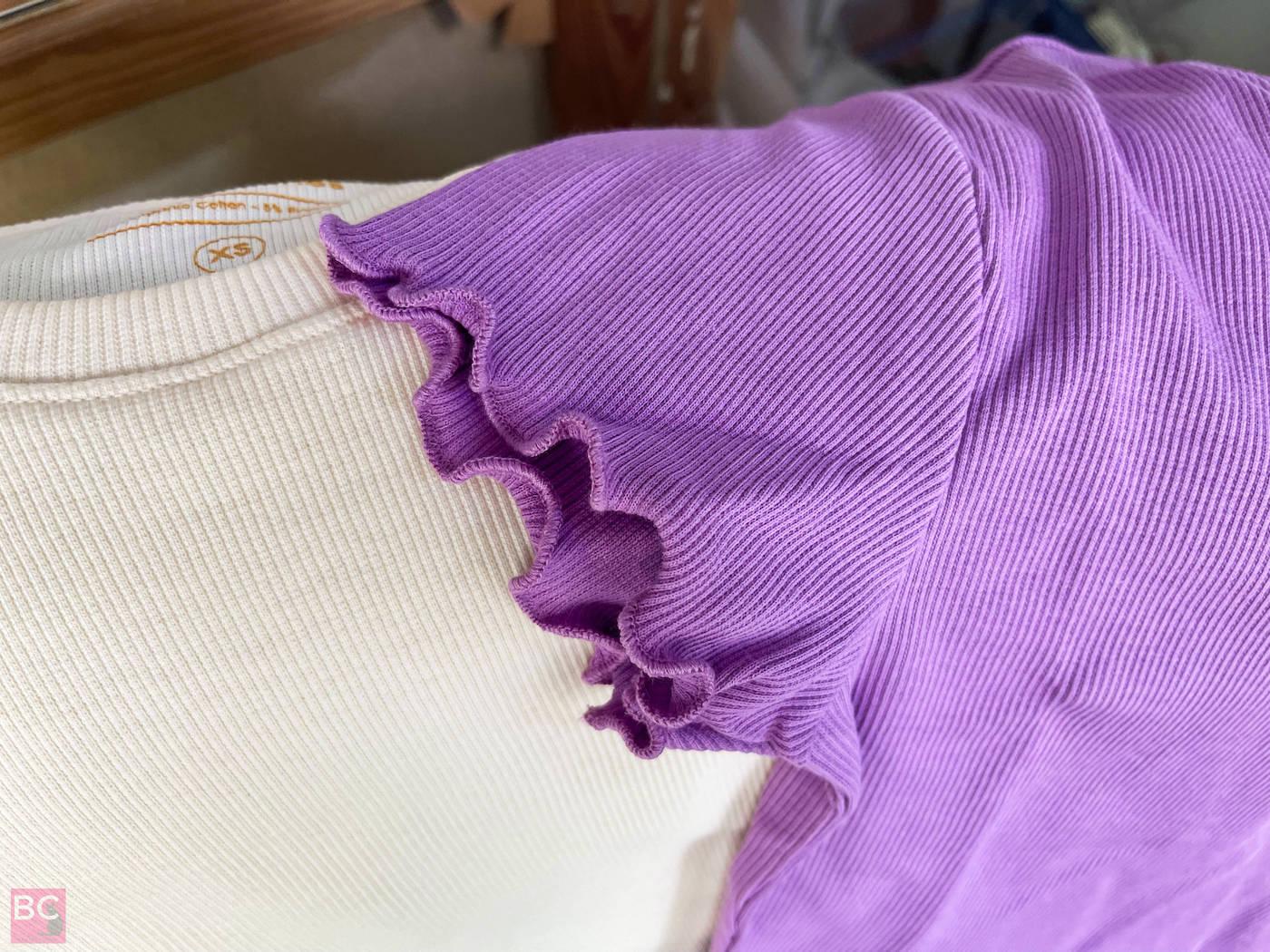 Ärmel Wellenbund The April Top Shirt Les Lunes Erfahrungen Farbe Lilac Oatmilk