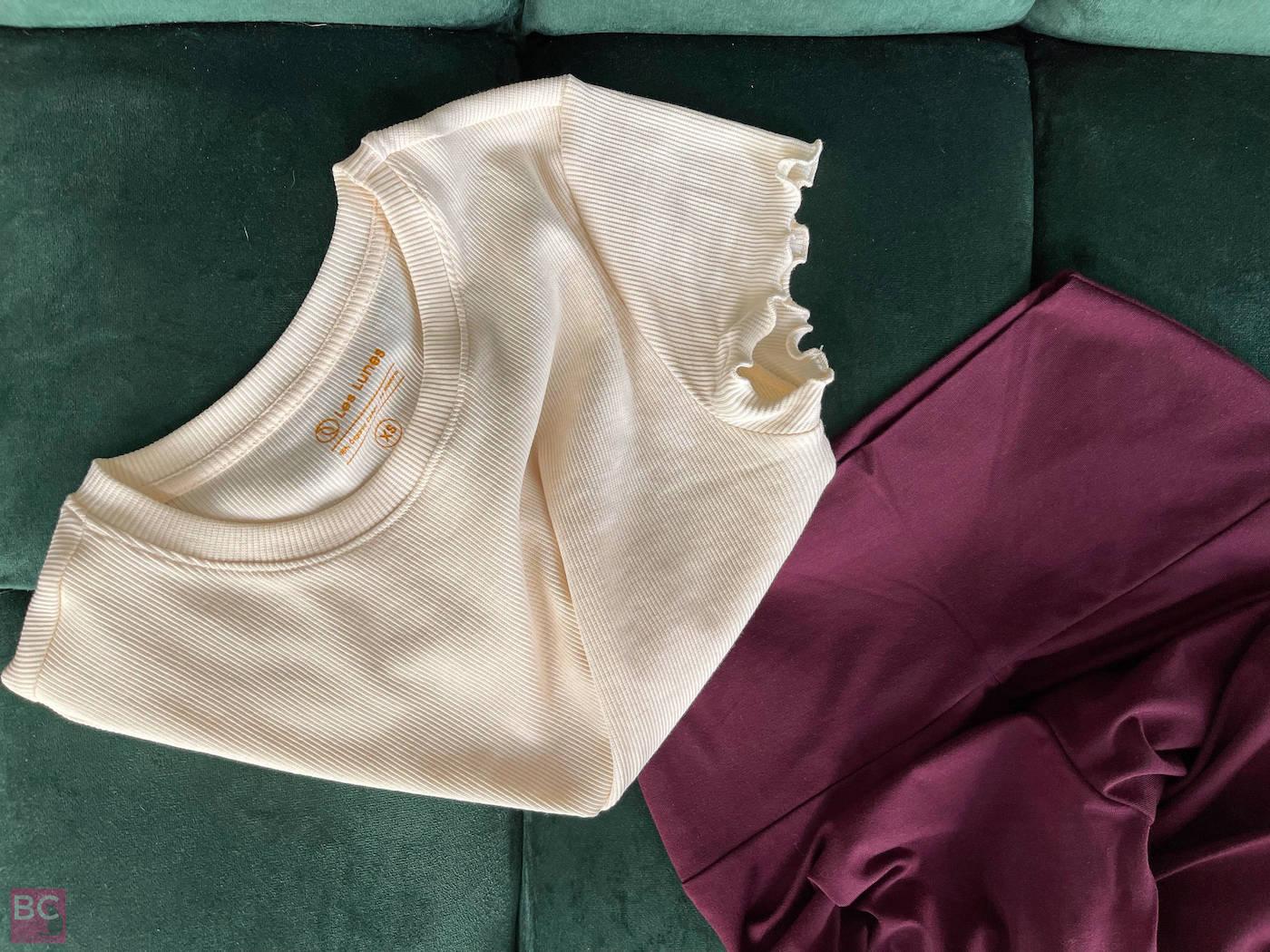 Kombination Luna Leggings und April Shirt Oatmilk Les Lunes Luna Leggings Erfahrungen