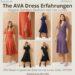 Les Lunes Erfahrung The AVA DRESS Kleid Größe Stoff Bewertungen