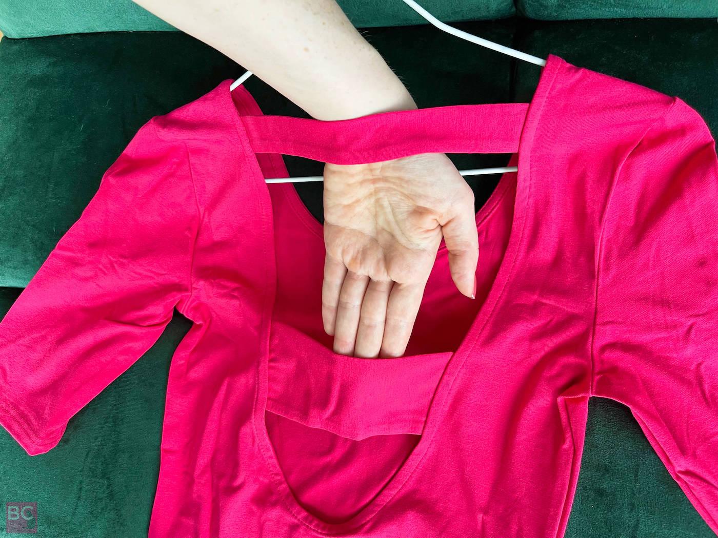 Rückenansicht Verarbeitung The Charlotte Bodysuit Les Lunes Erfahrunge
