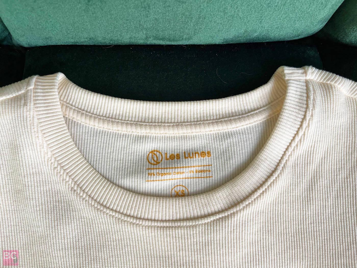 Rundhalsausschnitt The April Top Shirt Les Lunes Erfahrungen Farbe Oatmilk Größe XS