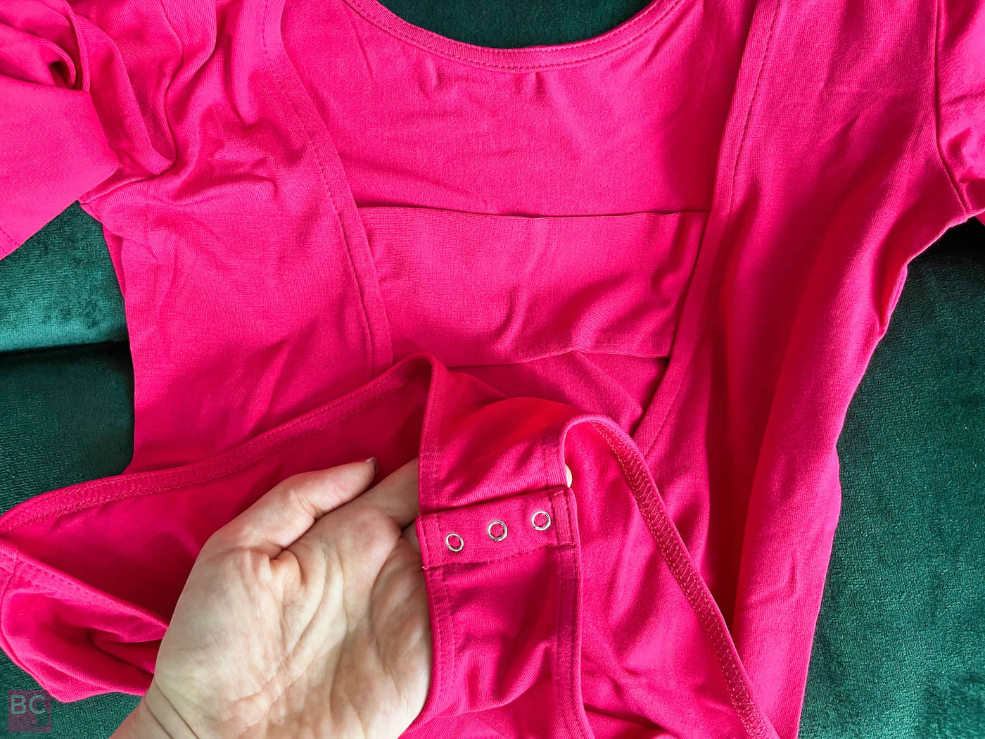 Schritt Verschluss The Charlotte Bodysuit Les Lunes Erfahrungen Größe Farbe rot
