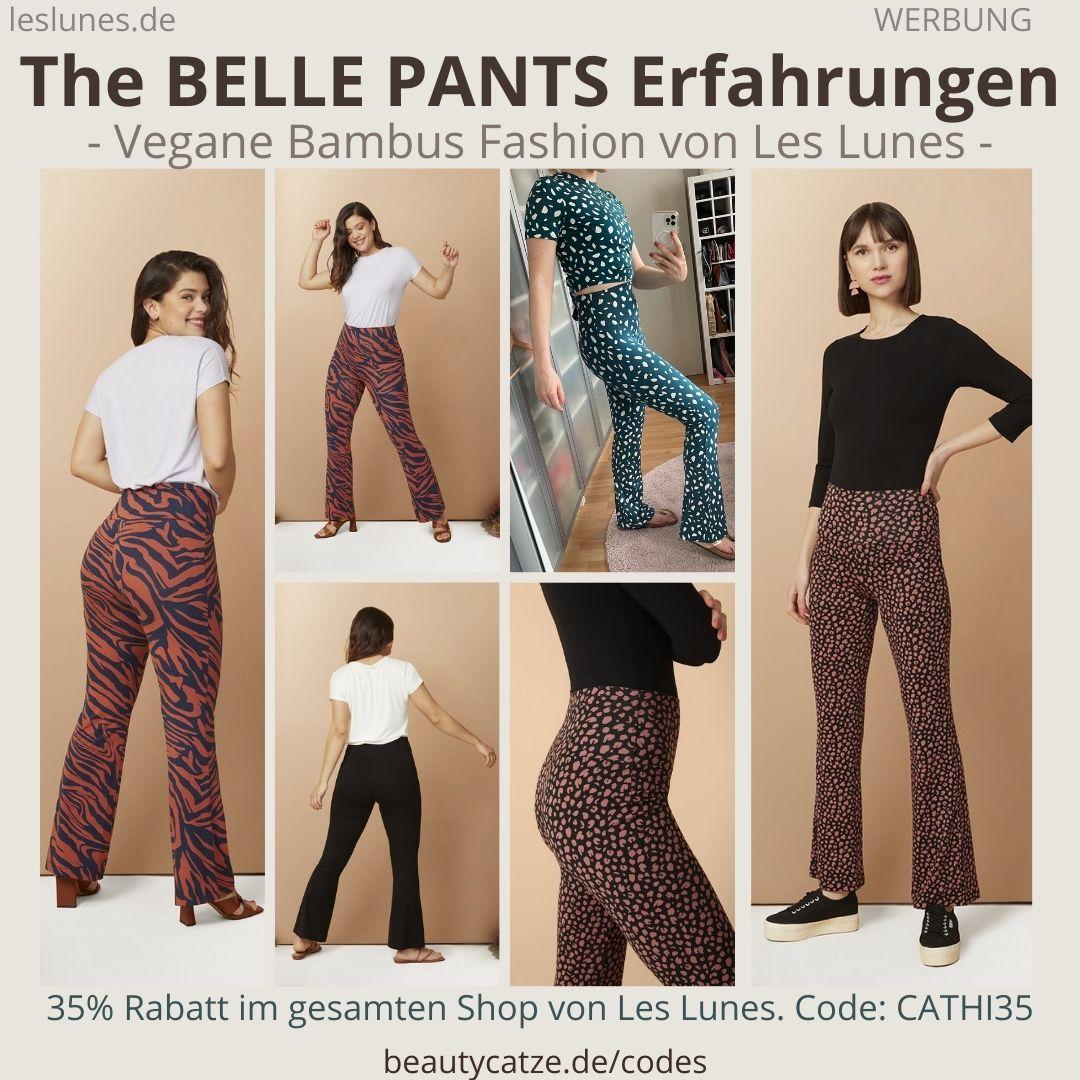 The BELLE PANTS Schlaghose Les Lunes Erfahrungen Größe Stoff Hose