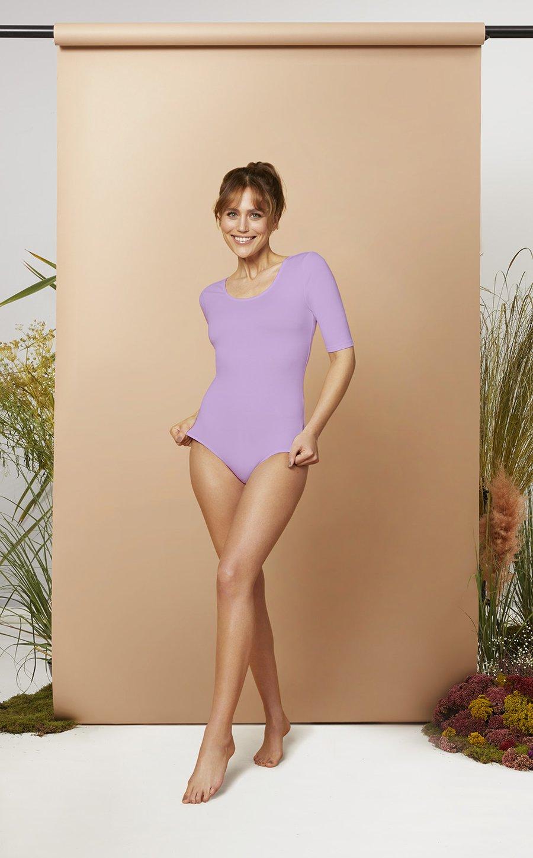 The Charlotte Bodysuit Les Lunes Erfahrungen und Größe Farbe lila