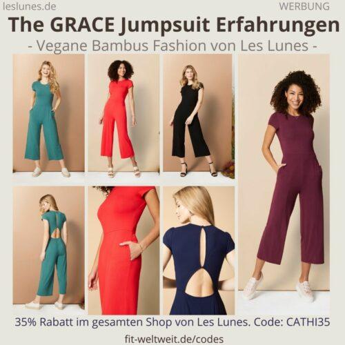 The GRACE JUMPSUIT Rückenfreier Einteiler Overall Les Lunes Erfahrungen Größe Stoff