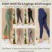 The HIGH WAISTED LEGGINGS Hose Pants Les Lunes Erfahrungen Größe blickdichter Stoff