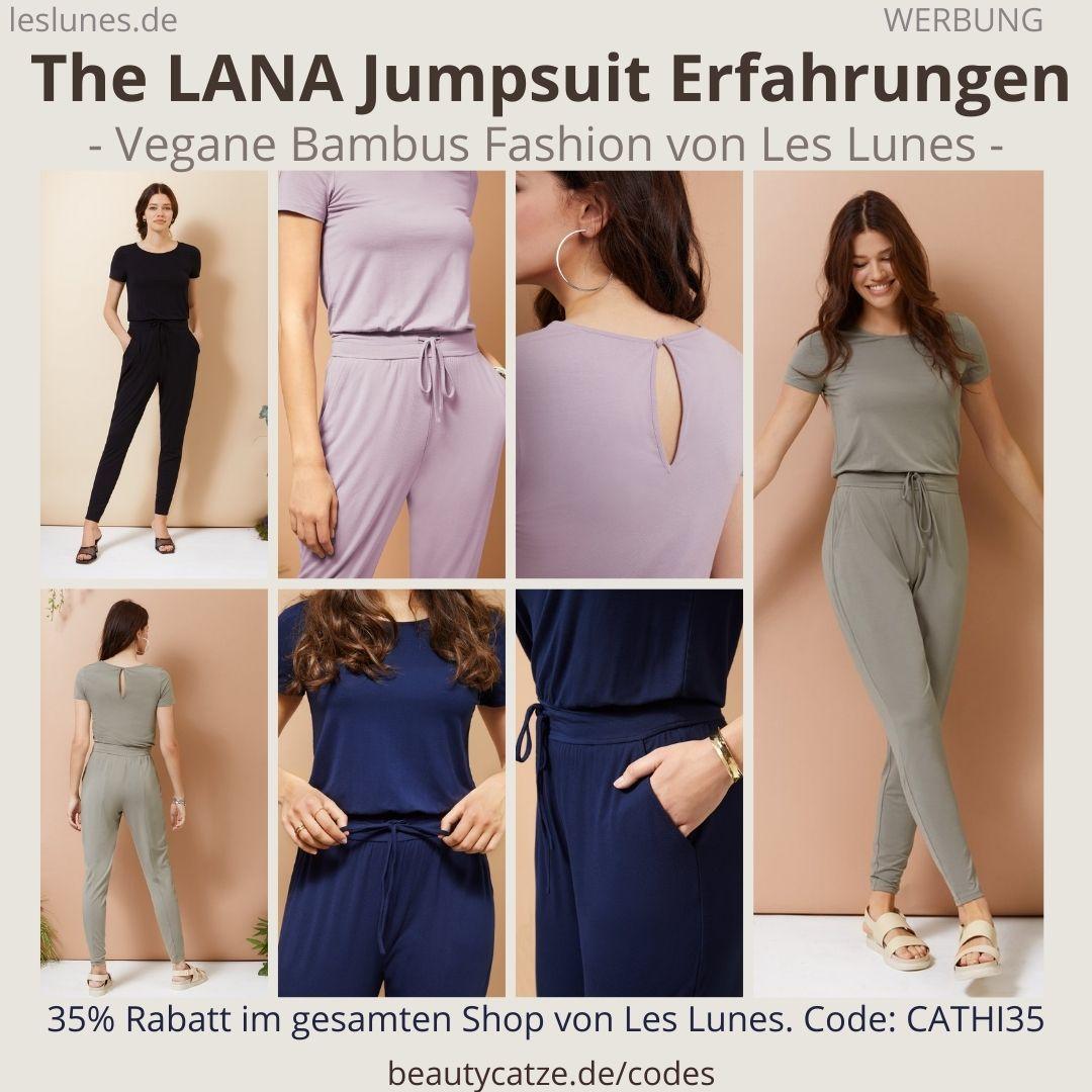 The LANA JUMPSUIT Einteiler Overall Les Lunes Erfahrungen Größe Stoff