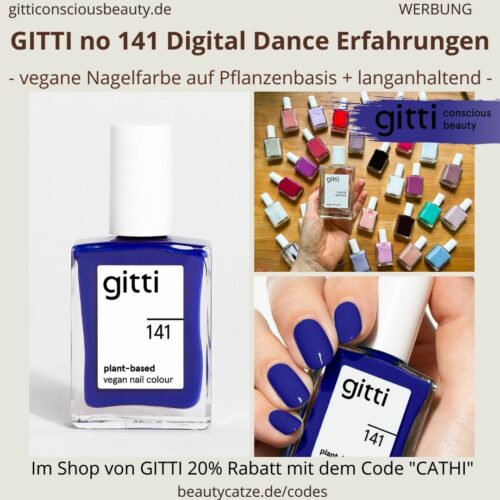 DIGITAL DANCE GITTI Nagellack No 141 blau ERFAHRUNG Nagelfarbe plant-based