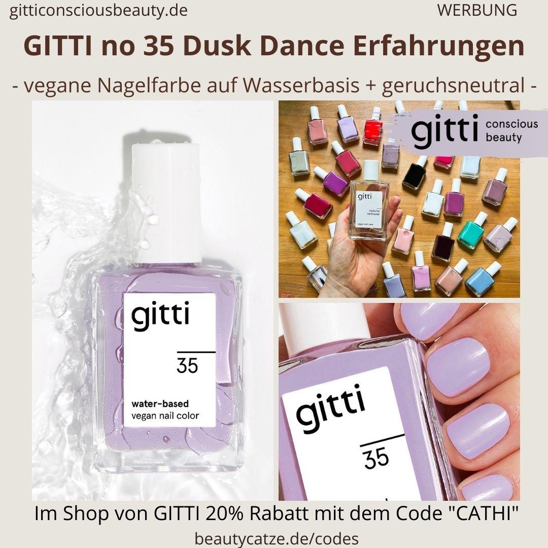 DUSK DANCE GITTI Nagellack No 35 hell lila ERFAHRUNG Nagelfarbe water-based
