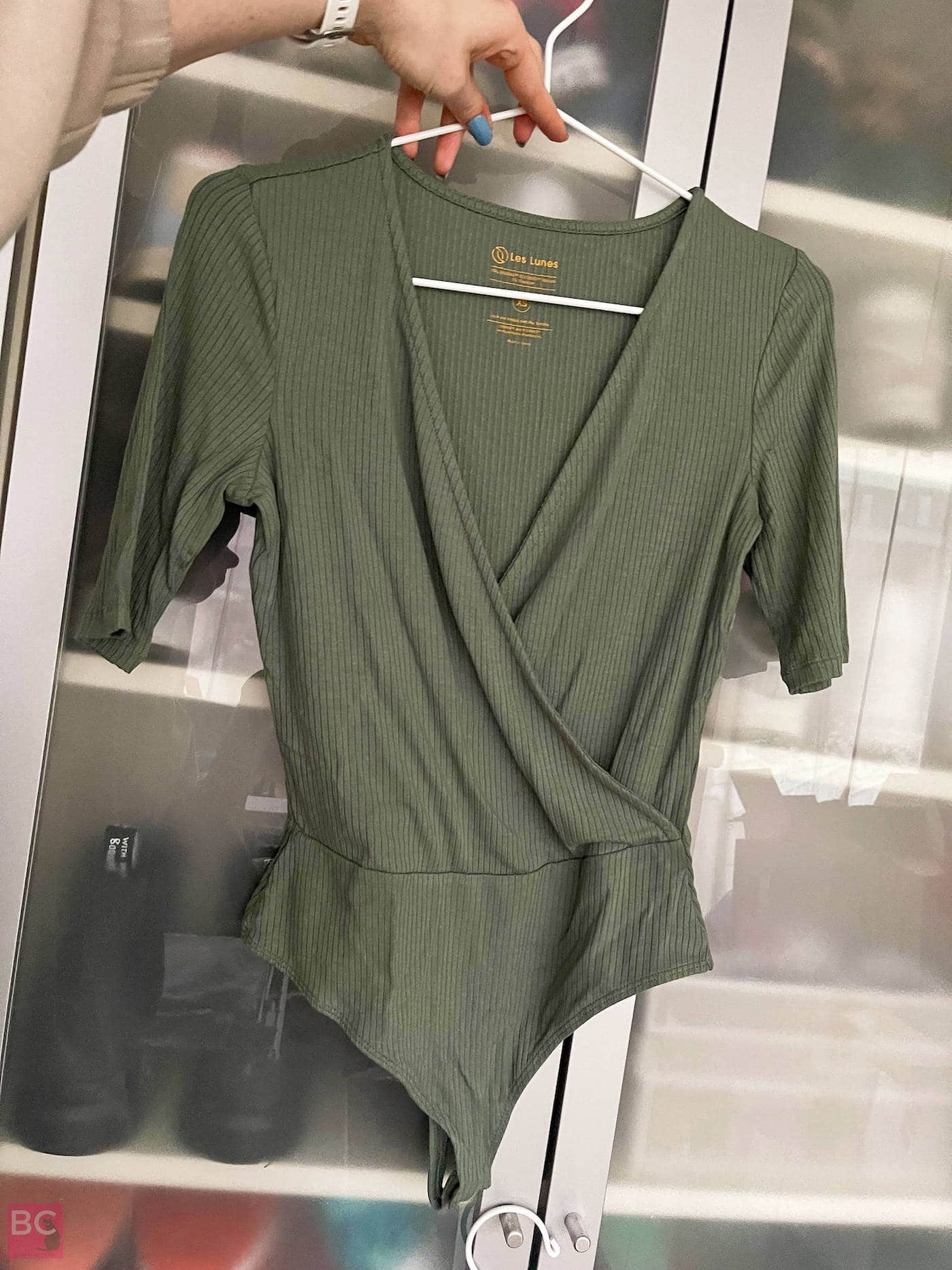 Erfahrugen The Zoey Bodysuit Les Lunes Rib Stoff Schnitt und Passform