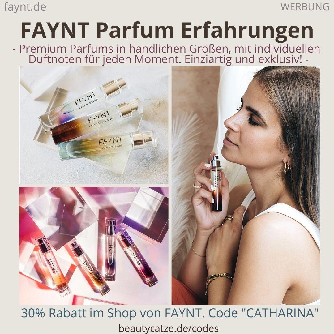 FAYNT Erfahrungen Parfum Düfte Bestseller Glow Beach Sunny Parfüm handliche Größe