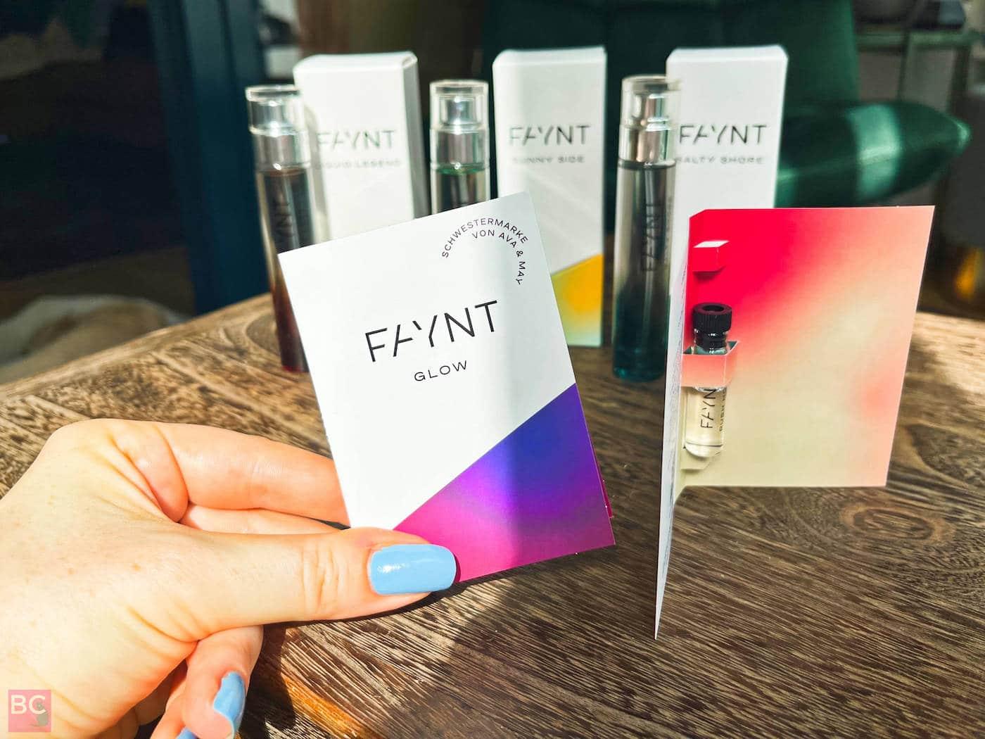 FAYNT Parfüm Glow Probeduft Erfahrungen Probepackung
