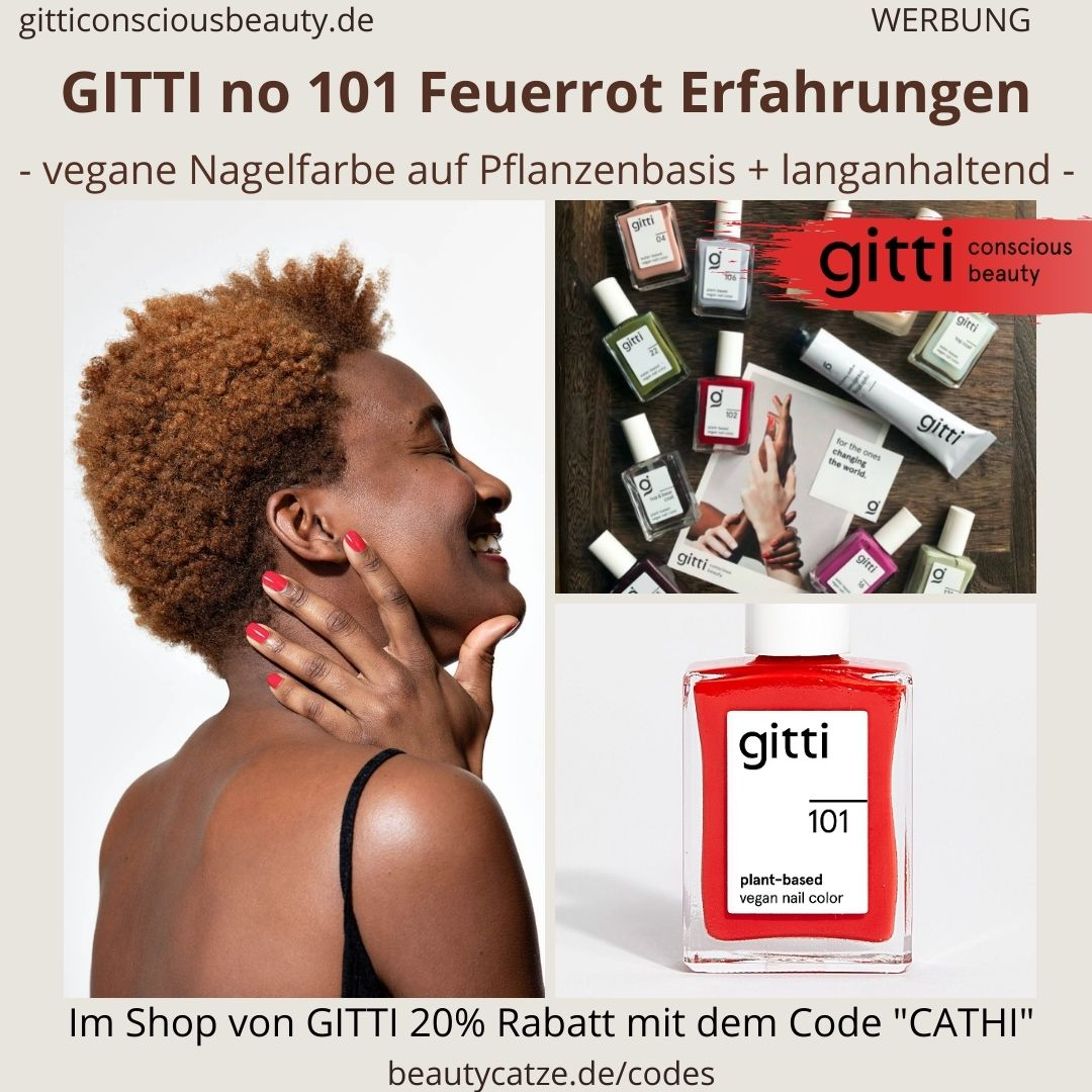 FEUERROT GITTI Nagellack No 101 rot ERFAHRUNG Nagelfarbe plant-based