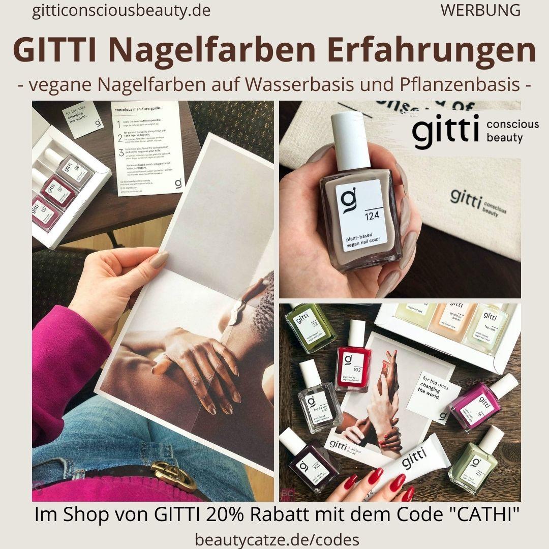 GITTI Erfahrung veganer Nagellack Erfahrungen Nagelfarben Anwendung Rabattcode