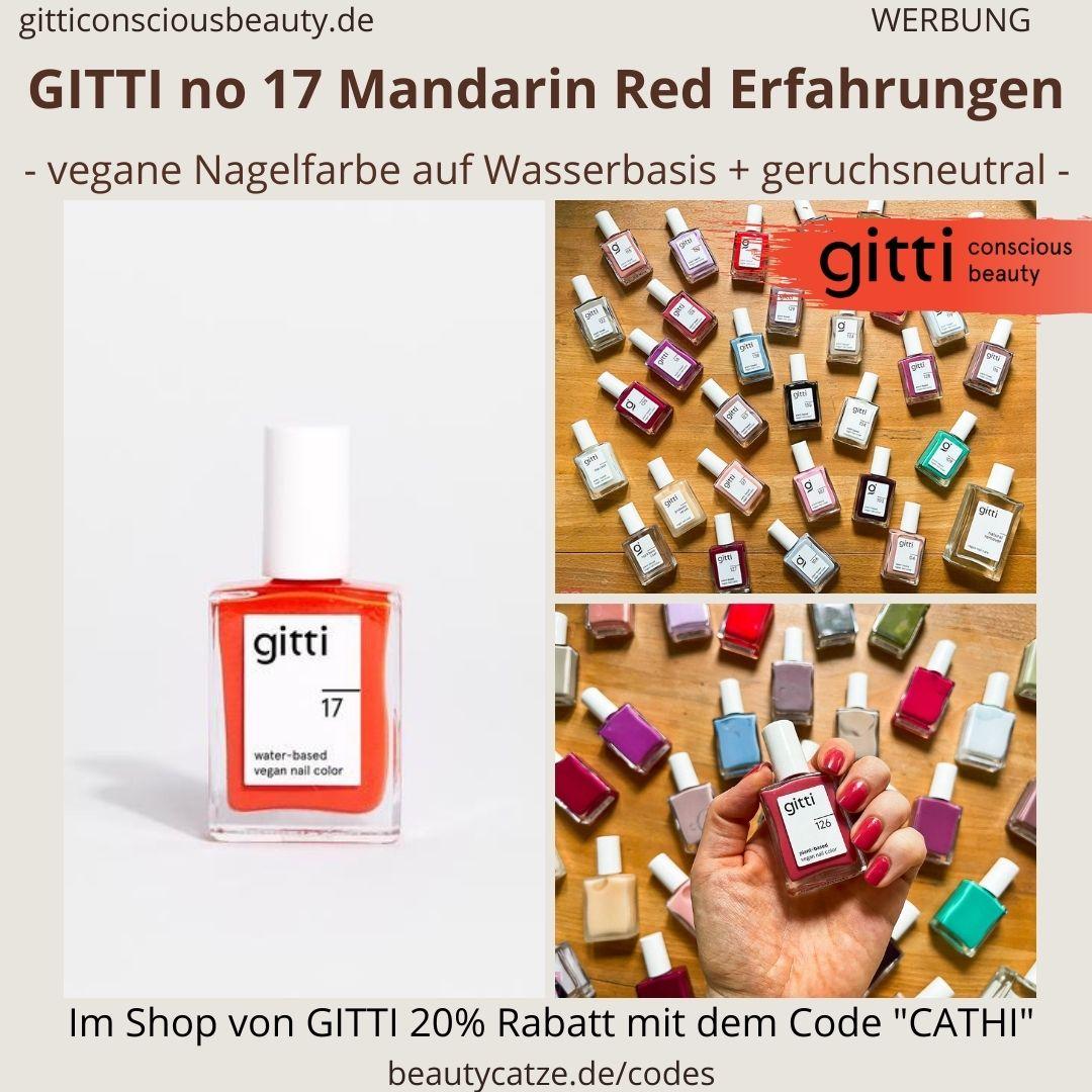 MANDARIN RED GITTI Nagellack No 17 rot ERFAHRUNG Nagelfarbe water-based