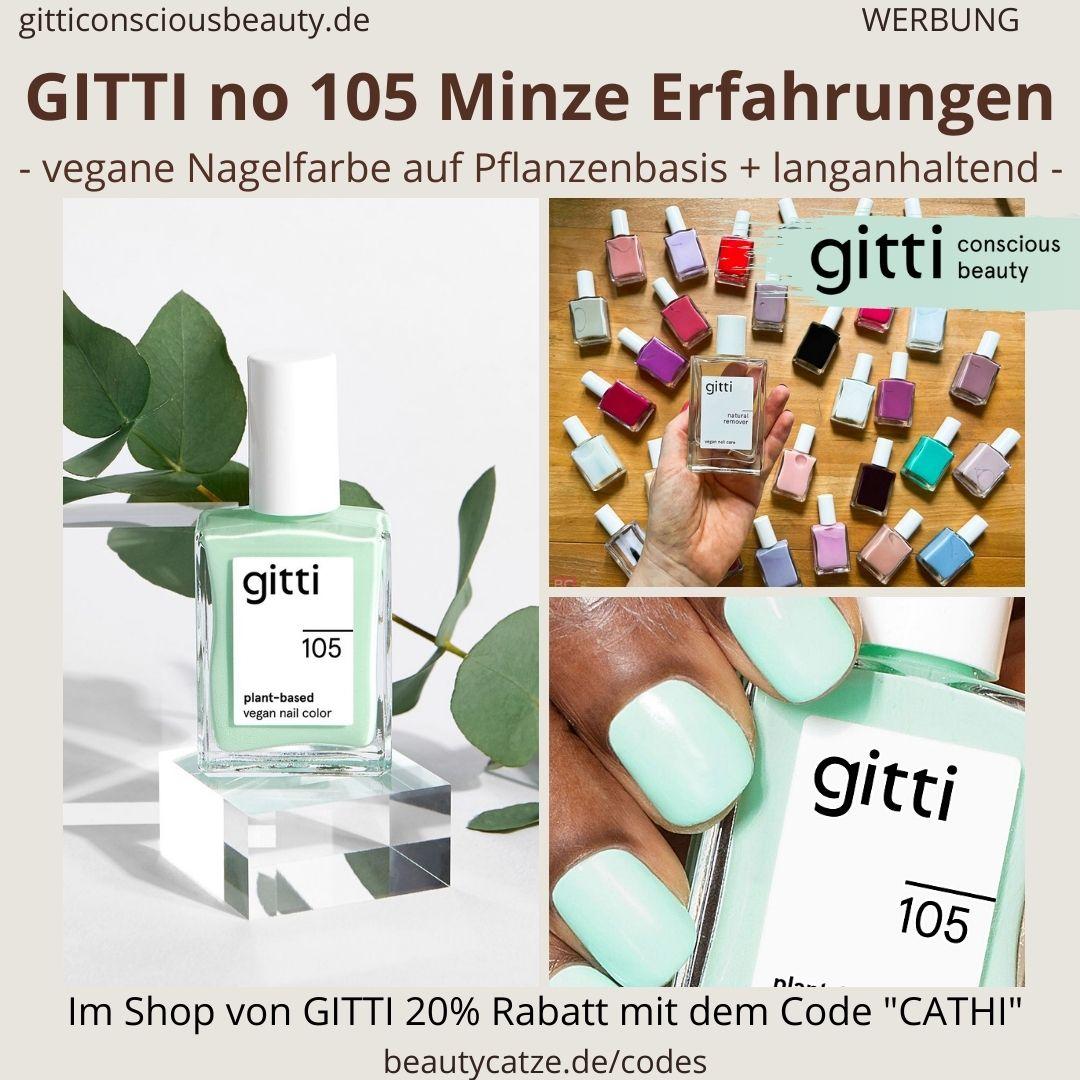 MINZE GITTI Nagellack No 105 hell grün ERFAHRUNG Nagelfarbe plant-based